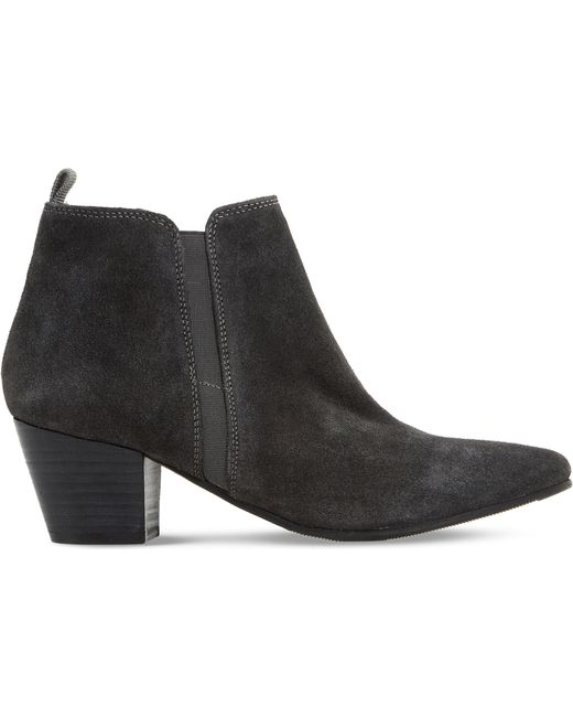 Dune - Black Perdy Suede Ankle Boot - Lyst