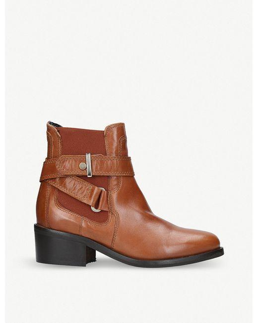 Carvela Kurt Geiger - Brown Stirrup Leather Ankle Boots - Lyst