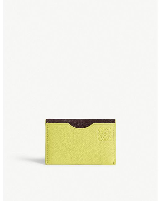 Loewe - Yellow Simple Leather Cardholder - Lyst