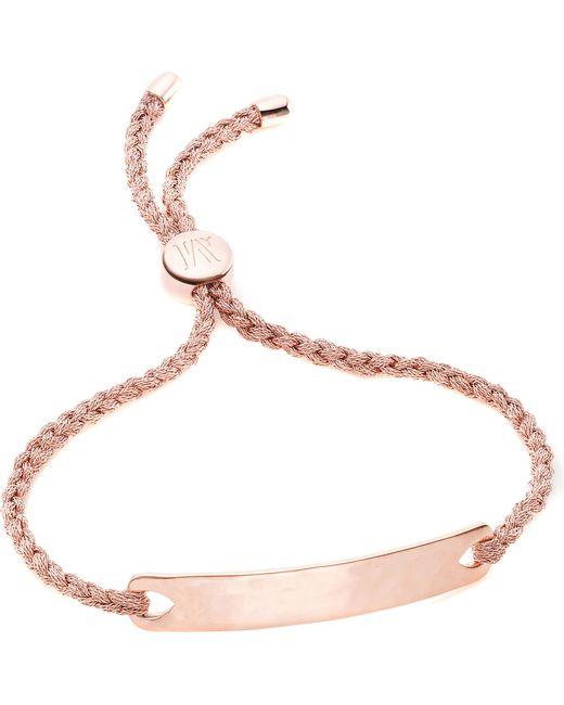 Monica Vinader - Pink Havana 18ct Rose Gold-plated Friendship Bracelet - Lyst