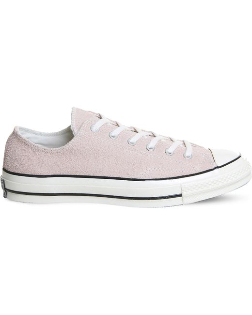 Converse - Pink All-star Ox '70 Suede Low-top Trainers - Lyst