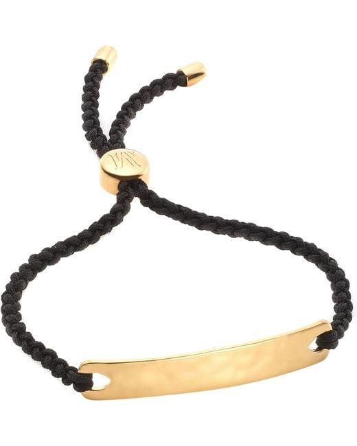 Monica Vinader - Black Havana 18ct Gold-plated Friendship Bracelet - Lyst