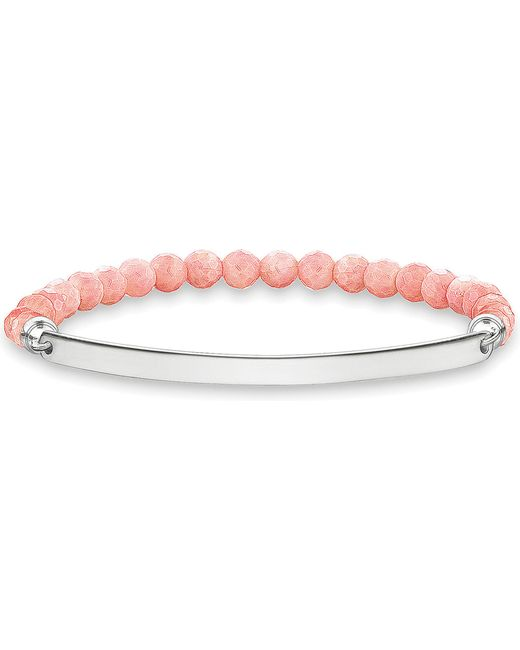 Thomas Sabo | Metallic Love Bridge Sterling Silver And Coral Bracelet | Lyst