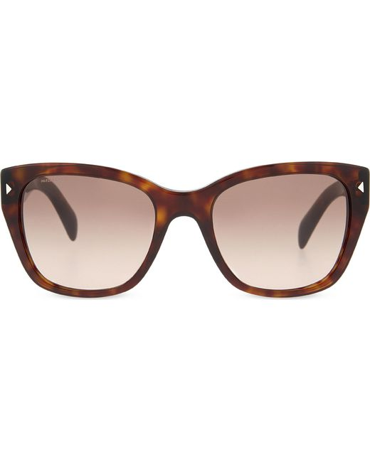 Prada - Brown Pr09s Square-frame Sunglasses - Lyst