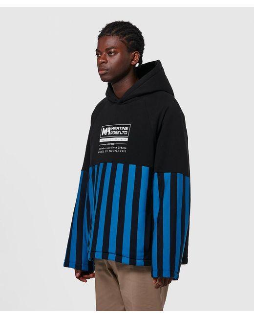 461ab0738 ... Martine Rose - Blue Split Wadded Hooded Sweatshirt for Men - Lyst ...