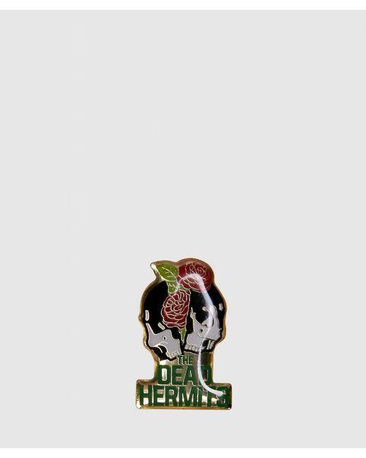 Undercover - Multicolor Split Skull Rose Pin Badge for Men - Lyst