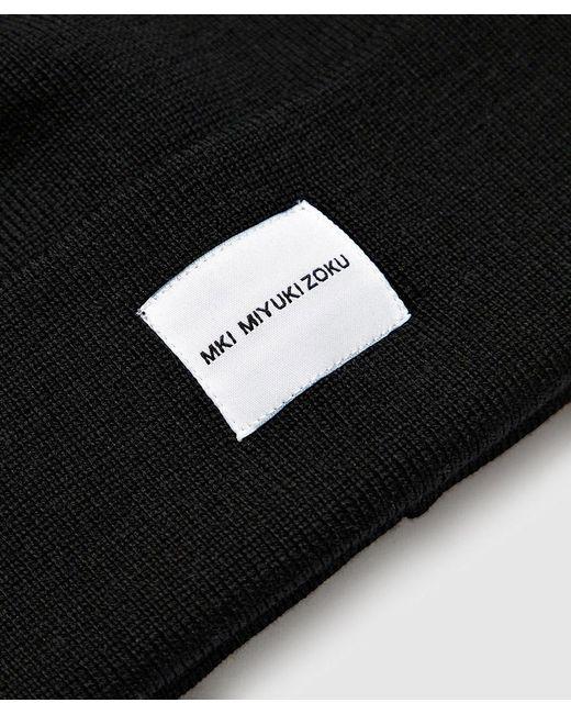 Lyst - MKI Miyuki-Zoku Merino Beanie in Black for Men - Save 10% 450216867725
