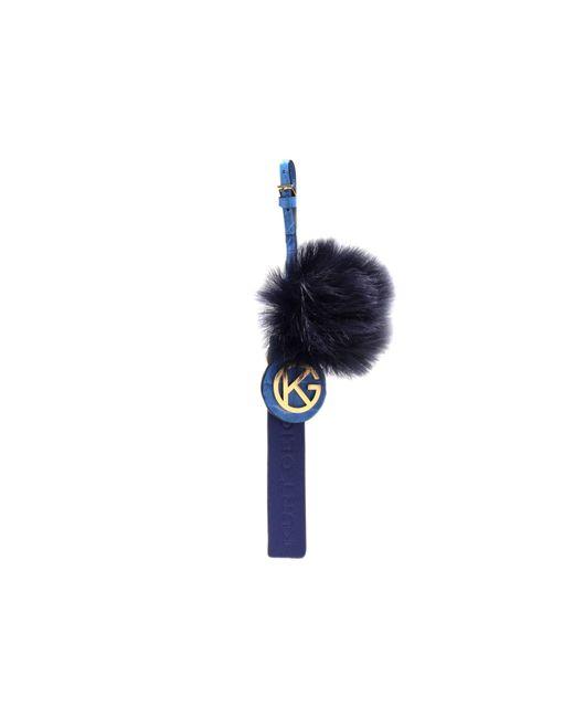 Kurt Geiger | Blue Kg Faux Fur Keyring | Lyst