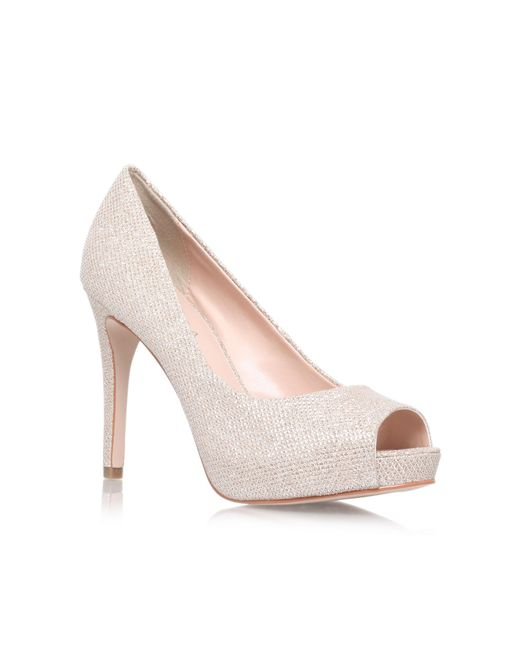 Carvela Kurt Geiger - Metallic Lara High Heel Peep Toe Court Shoes - Lyst