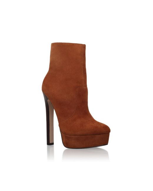 Carvela Kurt Geiger - Brown Sizzle High Heel Boots - Lyst