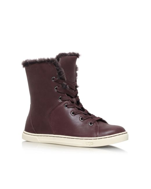 Ugg | Brown Croft Luxe Quilt Lace Up Sneakers | Lyst