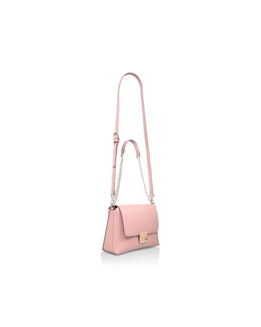 61e99b12588 ... Carvela Kurt Geiger - Pink Blink Chain Handle Bag - Lyst ...