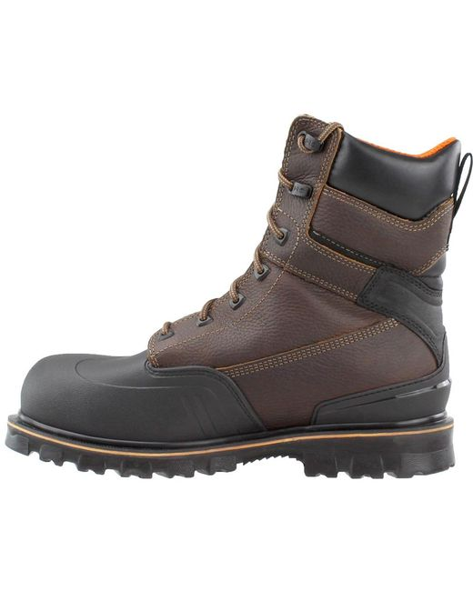 06a2d2e61ea Men's Brown Rigmaster 8 Inch Steel Toe Work Boots