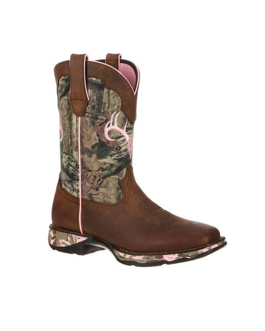 Durango   Brown Lady Rebel By Women's Camo Western Boot   Lyst