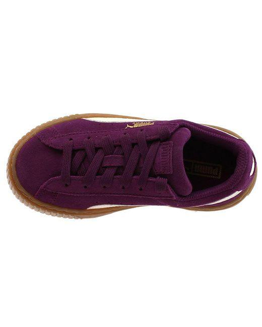 premium selection 3c8b2 c6a35 Women's Purple Suede Platform Snake Preschool