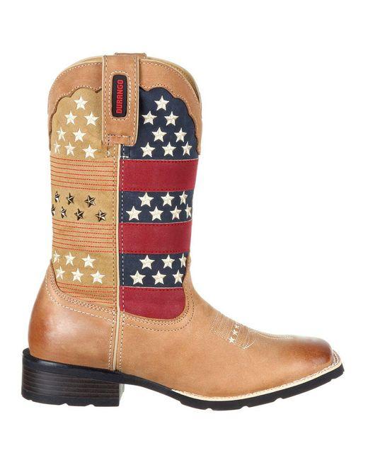 Durango | Brown Mustang Pull-on Patriotic Western Boot | Lyst