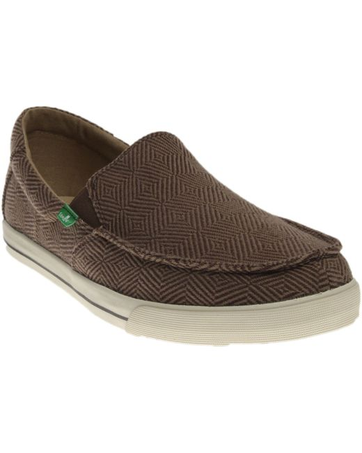 Sanuk | Brown Sideline Checked for Men | Lyst