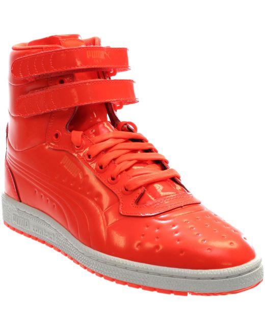 PUMA - Sky Ii Hi Patent Emboss Red Blast Mens High Top Sneakers for Men - Lyst