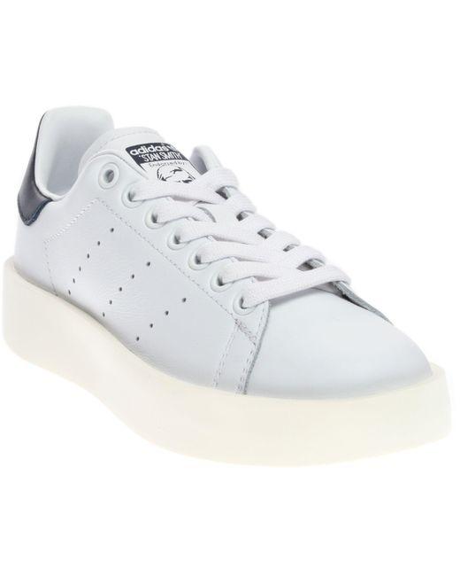 Adidas - White Stan Smith Bold for Men - Lyst