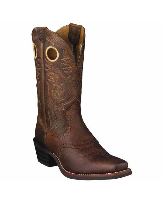 Ariat - Brown Heritage Roughstock Western Boot for Men - Lyst