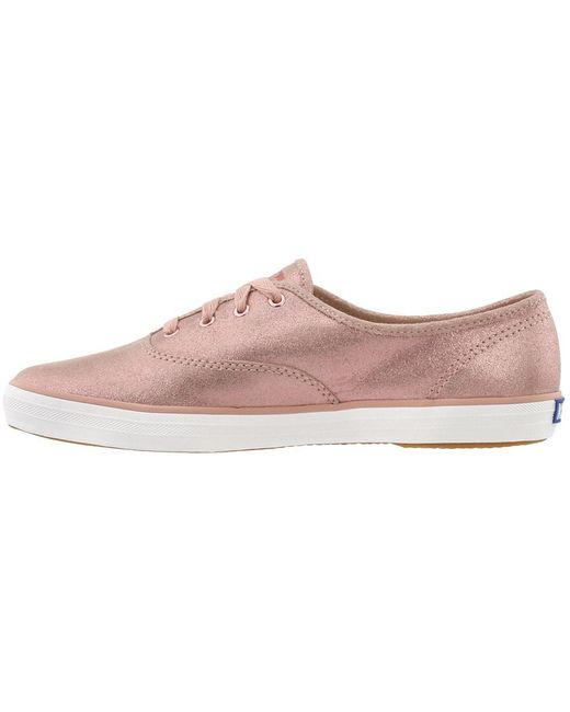 dedfdd5a3c34 Lyst - Keds Champion Glitter Suede in Pink - Save 23%
