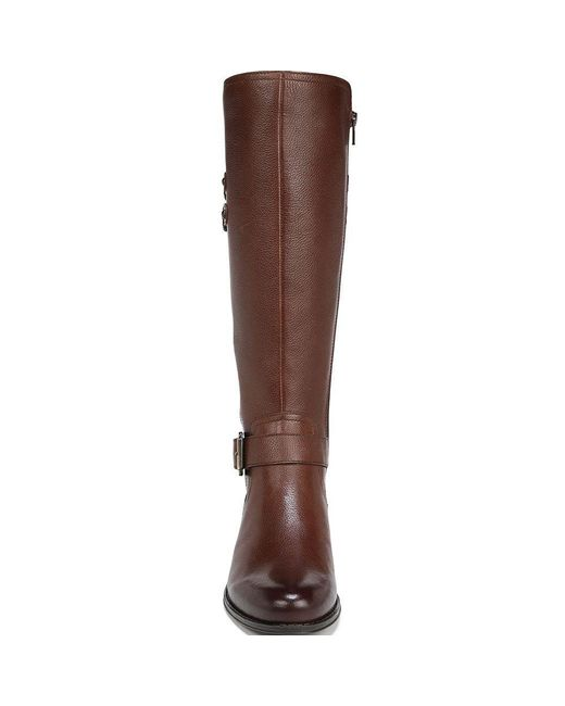 b6ef664bcd4 Lyst - Naturalizer Jessie Wide Calf Riding Boots in Brown - Save 38%