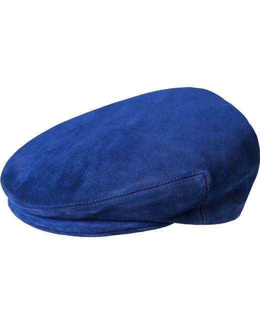 191106b5409b4 Kangol Suede Newsboy Cap in Blue for Men - Lyst