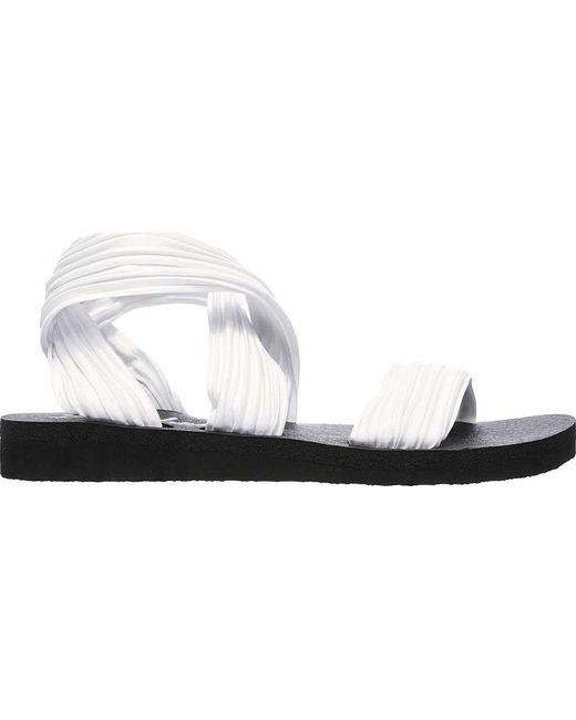 1f855ce662f ... Skechers - White Meditation Still Sky Ankle Strap Sandal - Lyst ...