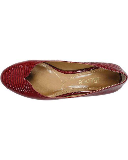109e3216941 ... J. Reneé - Red Bambalina Low Block Heel Pump - Lyst ...