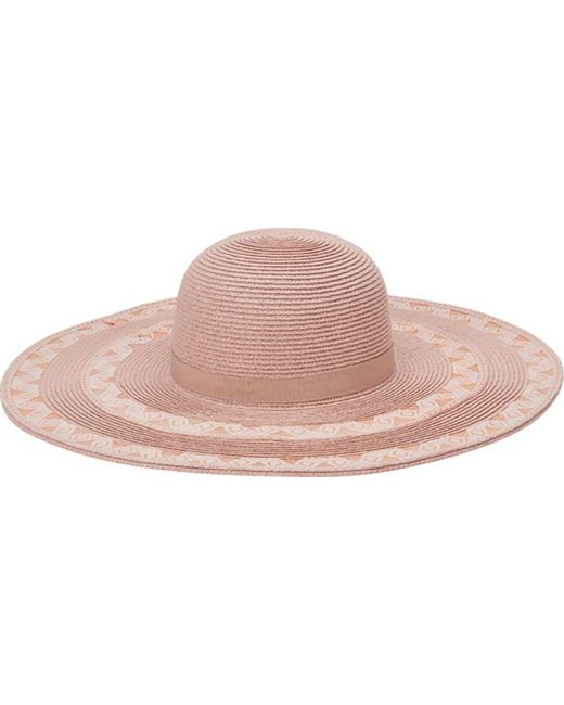 San Diego Hat Company - Pink Ultrabraid Wide Brim Hat With Lace Insets  Ubl6807 - Lyst 86b5c7411f22