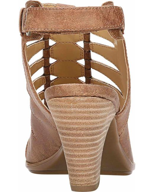 b6b4d3a32cac ... Naturalizer - Brown Talan Open Toe Bootie - Lyst ...