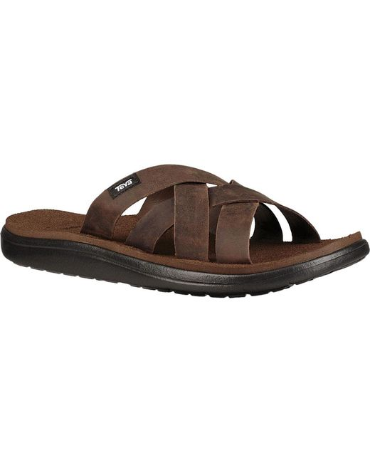 9f4e1a95e523 Lyst - Teva Voya Slide Leather in Brown for Men - Save 2%