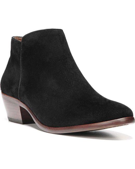 9c259488493104 Sam Edelman - Black Petty Low Ankle Boots - Lyst ...