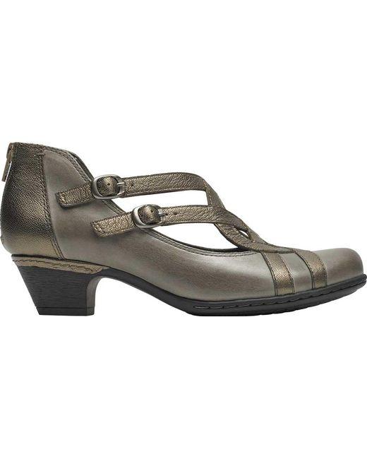 f754ddb76 Lyst - Rockport Cobb Hill Abbott Curvy Block Heel in Gray - Save 38%