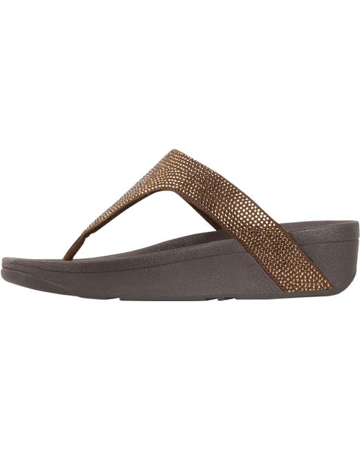35243774449 ... Fitflop - Multicolor Lottie Shimmer Crystal Thong Sandal - Lyst ...