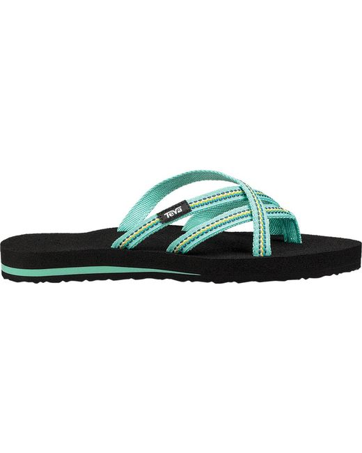 085582b43 Lyst - Teva Olowahu Striped Flip Flop in Green - Save 56%