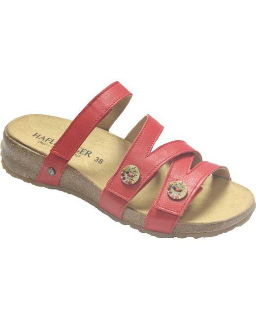 74b02a52d8d6 Lyst - Haflinger Sabrina Slide Sandal in Pink