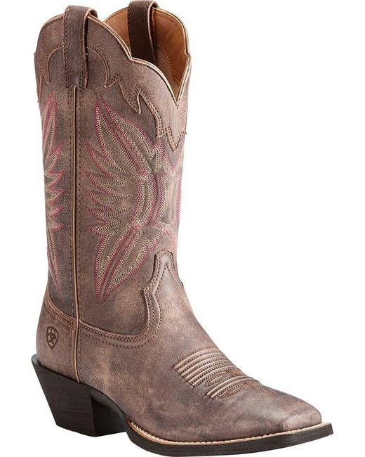 e436c8d8683d Ariat - Brown Round Up Outfitter Cowgirl Boot - Lyst ...