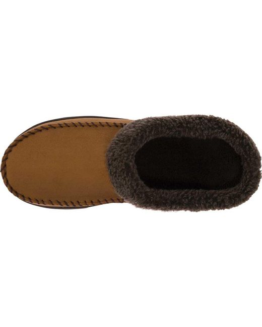 285e942de66 ... Dearfoams - Brown Mfs Clog Slipper With Whipstitch for Men - Lyst ...