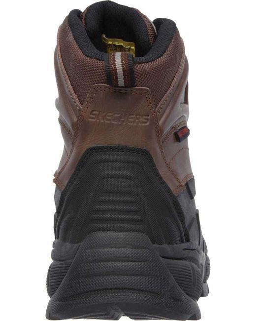 6393b9ee804 Lyst - Skechers Work Radford Wp Composite Toe Ankle Boot in Brown ...