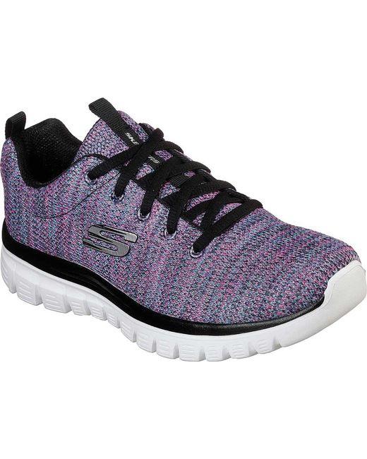 Skechers - Multicolor Graceful Twisted Fortune Sneaker - Lyst