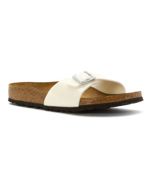 Birkenstock | White Madrid Faux-Leather Sandals | Lyst