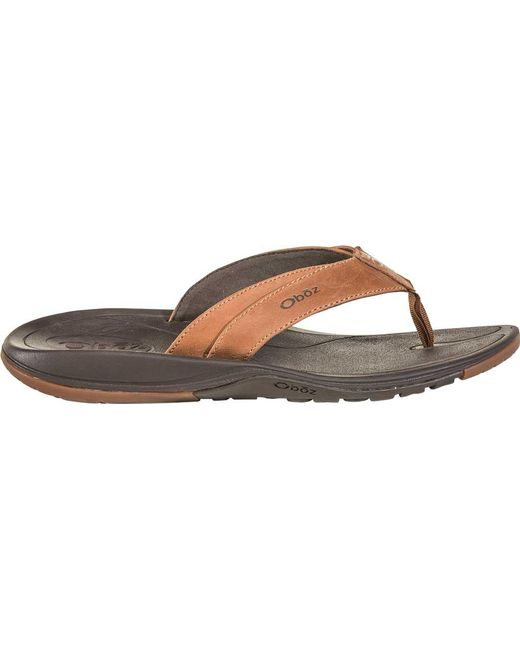 5db36551f07c ... Oboz - Multicolor Selway Leather Sandal for Men - Lyst ...