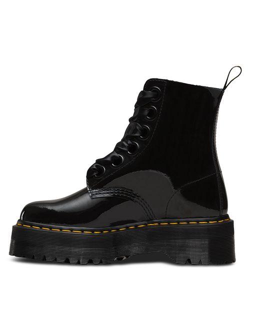 Dr Martens Molly Lolita Boot In Multicolor Black Patent