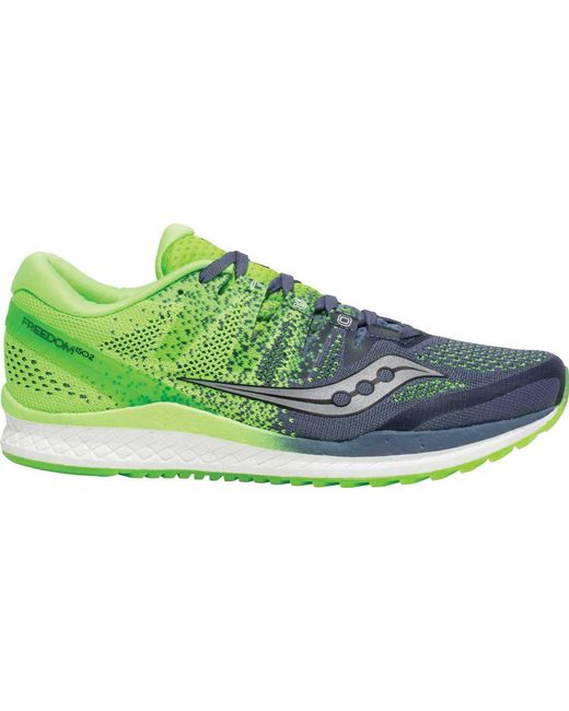 d6a0efa69a4 ... Saucony - Green Freedom Iso 2 Running Shoe for Men - Lyst ...