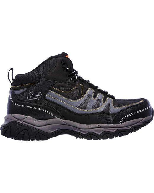 c19a480d71e5 ... Skechers - Black Work Relaxed Fit Holdredge Rebem Steel Toe Hiker for  Men - Lyst ...