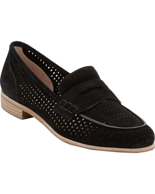 G.H.BASS - Black Ellie Perfed Penny Loafer - Lyst