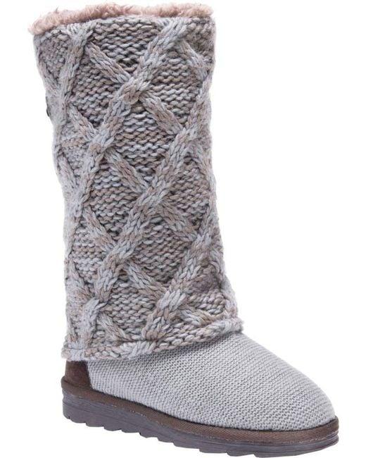 Muk Luks - Gray Shawna Sweater Boot - Lyst