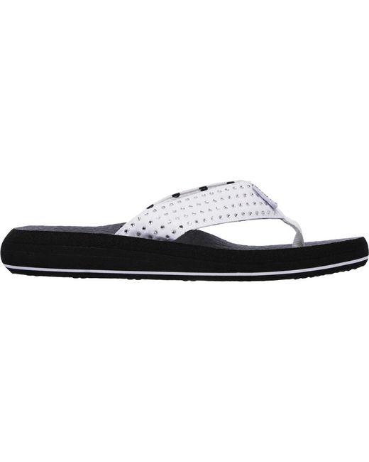61c180dd229e ... Skechers - White Asana New Age Thong Sandal - Lyst ...