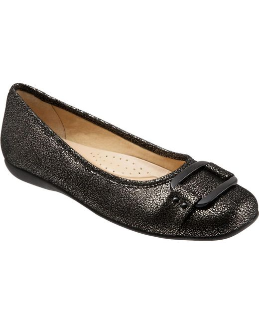 Trotters - Black Sizzle Signature Flat - Lyst